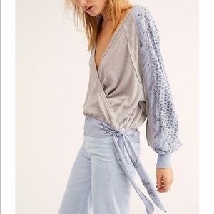 Free People Wrap Thermal Top